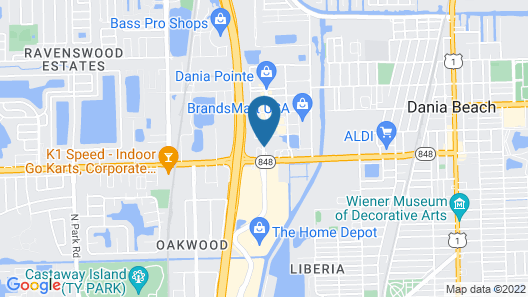 HYATT house Fort Lauderdale Airport & Cruise Port Map