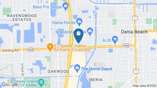 Hyatt Place Ft. Lauderdale Airport & Cruise Port Map