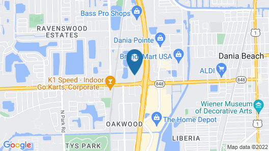 Comfort Suites Fort Lauderdale Airport South & Cruise Port Map