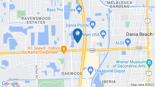 Home2 Suites by Hilton Ft. Lauderdale Airport-Cruise Port Map