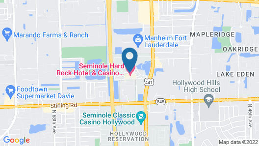 Seminole Hard Rock Hotel and Casino Map