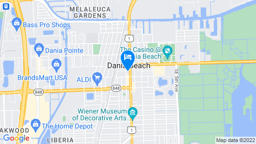 Hotel Morrison FLL Airport Map