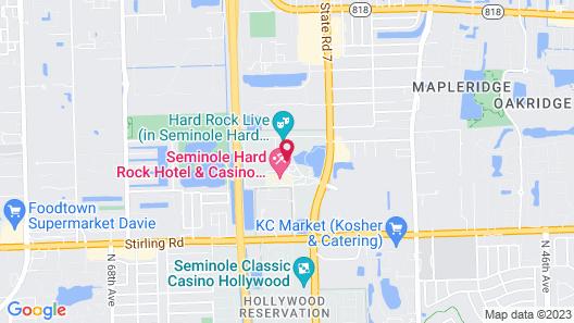 The Guitar Hotel at Seminole Hard Rock Map