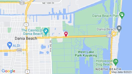 Motel 6 Dania Beach Map