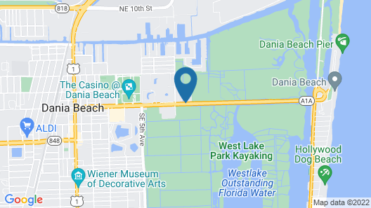 Motel 6 Dania Beach Map
