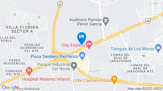 Holiday Inn Reynosa Industrial Poniente Map