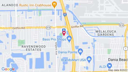 Courtyard by Marriott Fort Lauderdale Airport & Cruise Port Map