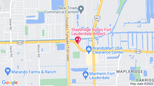 Staybridge Suites Fort Lauderdale Airport - West, an IHG Hotel Map