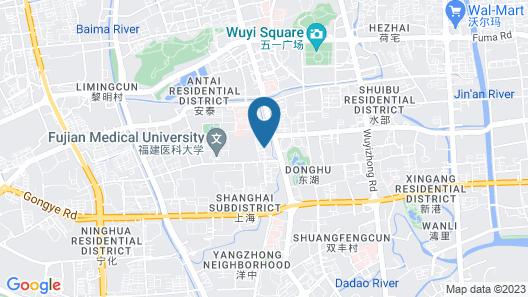 Howard Johnson Riverfront Plaza Fuzhou Map