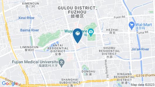 Fuzhou Hotel Map