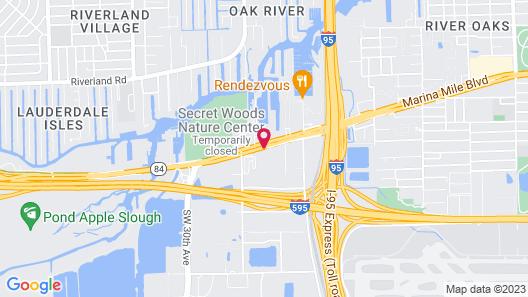 Red Carpet Inn Airport/Cruiseport Map