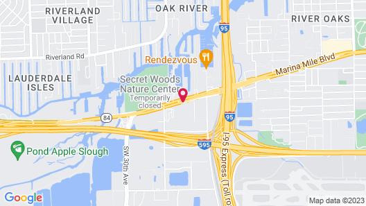 Rodeway Inn & Suites Fort Lauderdale Airport & Cruise Port Map