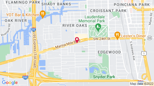 Holiday Inn Express Hotel & Suites Ft Lauderdale Airport/Cru, an IHG Hotel Map