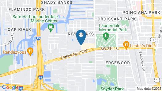 Hampton Inn Ft. Lauderdale Airport North Cruise Port Map