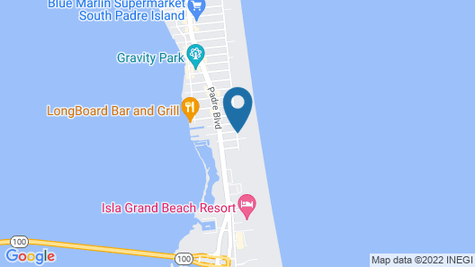 Padre South Hotel On The Beach Map
