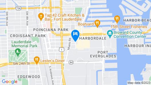 Hyatt Place Fort Lauderdale Cruise Port Map