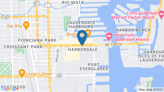 Extended Stay America Suites Ft Lauderdale Conv Ctr CruisePt Map
