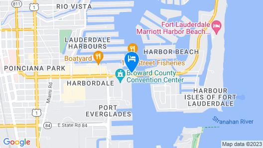 Hilton Fort Lauderdale Marina Map