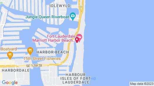 Fort Lauderdale Marriott Harbor Beach Resort & Spa Map