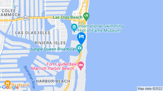 Bahia Mar Ft. Lauderdale Beach- a DoubleTree by Hilton Hotel Map