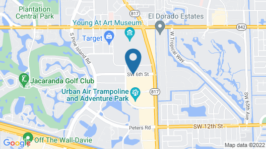 Courtyard by Marriott Fort Lauderdale Plantation Map