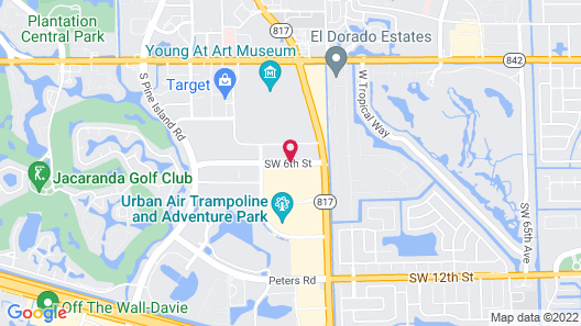 Extended Stay America Fort Lauderdale - Plantation Map
