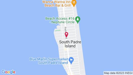South Padre Island Lodge Map