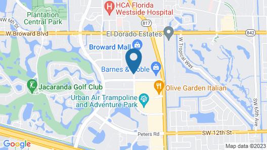 Hampton Inn Ft Lauderdale-Plantation Map