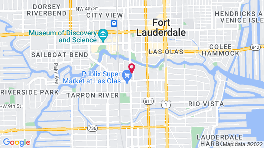 Downtown Fort Lauderdale River Rentals Map