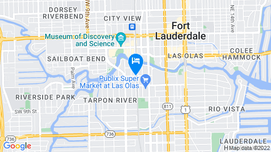 Riverwalk Downtown Rentals Map