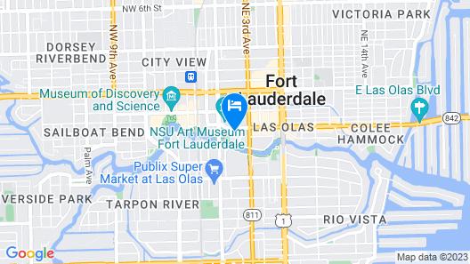 Hyatt Centric Las Olas Fort Lauderdale Map