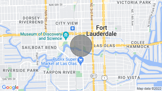 Brand NEW Soflobnb In the Heart of LAS Olas Map