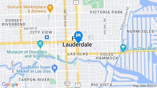 Fairfield Inn & Suites by Marriott Fort Lauderdale Downtown Map