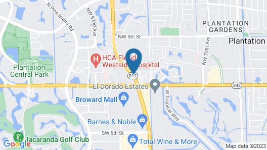 Residence Inn By Marriott Fort Lauderdale Plantation Map