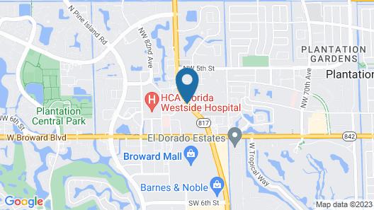 Sheraton Suites Fort Lauderdale Plantation Map