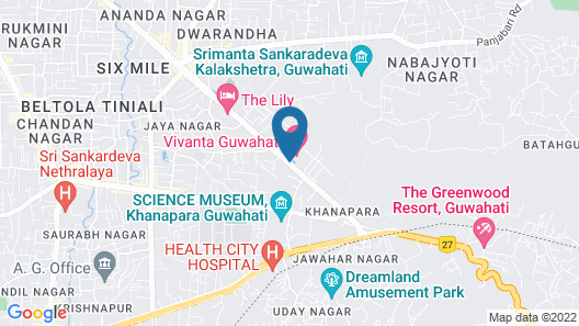 Vivanta Guwahati  Map
