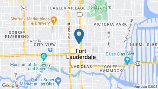 Element Fort Lauderdale Downtown Map