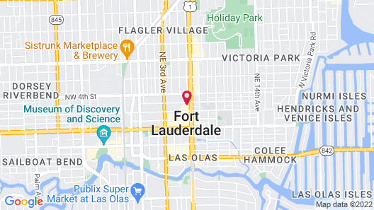 The Dalmar, Fort Lauderdale, a Tribute Portfolio Hotel Map