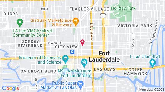 Hampton Inn by Hilton Ft. Lauderdale/Downtown Las Olas Area, FL Map