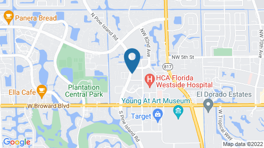 Sonesta ES Suites Fort Lauderdale Plantation Map