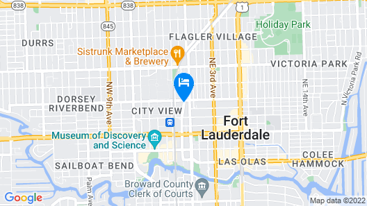 Home2 Suites by Hilton Ft. Lauderdale Downtown, FL Map