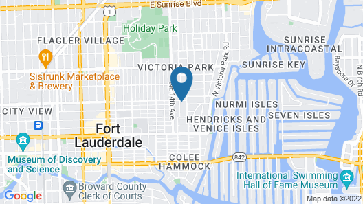 Alani Bay Deluxe Condos Fort Lauderdale Map