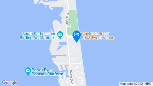 Just Steps From the Beach -tropical Condo at the Tiki, SPI - Sleeps six Map