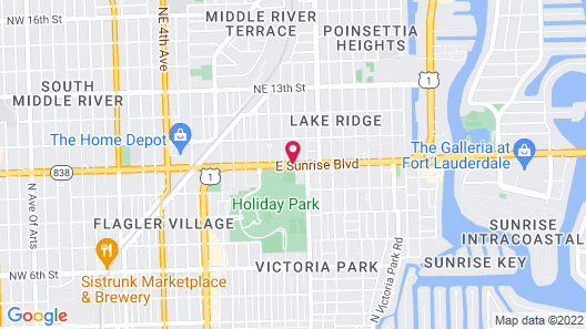 Travelodge by Wyndham Fort Lauderdale Map