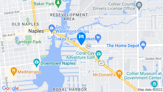Holiday Inn Express Hotel & Suites Naples Downtown - 5th Ave, an IHG Hotel Map