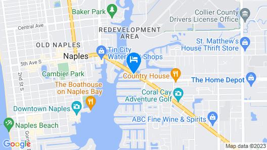 Naples Bay Resort & Marina Map