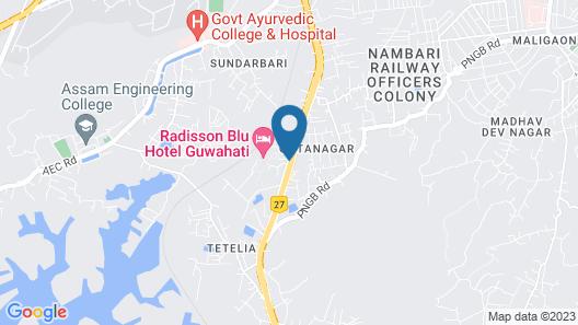 Radisson Blu Hotel Guwahati Map