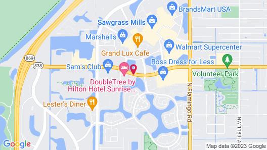 DoubleTree by Hilton Hotel Sunrise - Sawgrass Mills Map