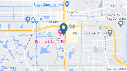 Holiday Inn Express Hotel & Suites Ft. Lauderdale-Plantation, an IHG Hotel Map
