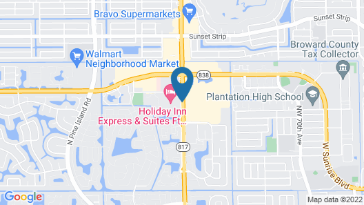 Holiday Inn Express Hotel & Suites Ft. Lauderdale-Plantation Map